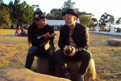 DJ Squeek with Kahn Morbee (Parlotones)